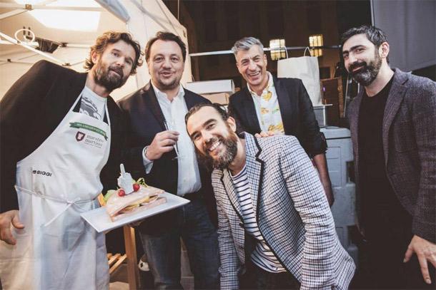 Carlo Cracco, Stefano Seletti e Maurizio Cattelan -  Photo Paride Vitale