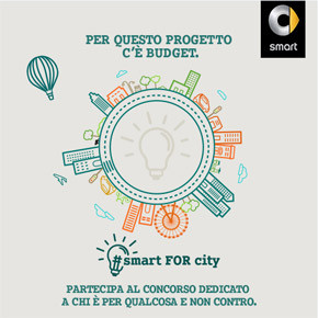 Migliora la vita urbana grazie alla nuova smart, partecipa al concorso smart FOR city