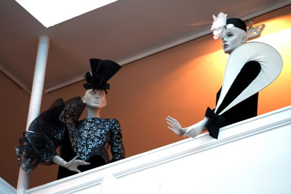 """A view shows fashion creations by French fashion designer Pierre Cardin in his museum called """"Past-Present-Future"""" in Paris"""