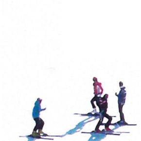 Sciatori: un pulviscolo di segni e di colori