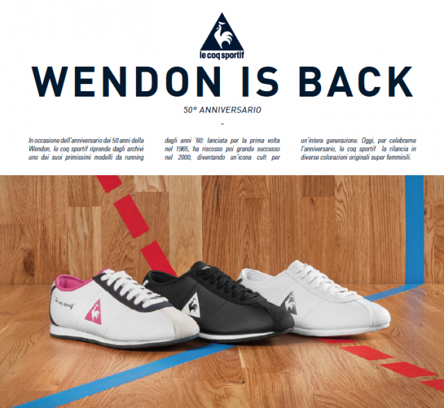 LE COQ SPORTIF_Wendon is back