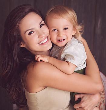 Giannina con il suo bambino