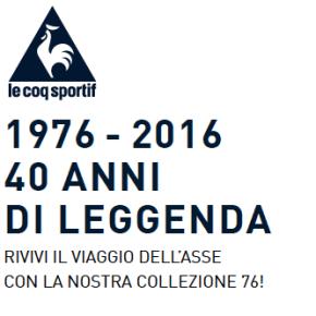 LE COQ SPORTIF 1976 – 2016, 40 anni di leggenda