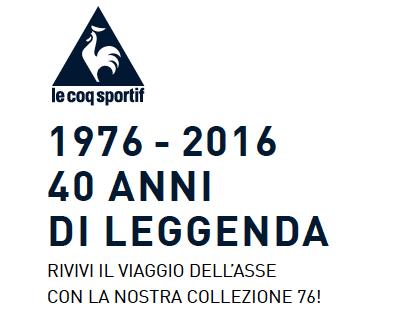 LE COQ SPORTIF 1976_2016